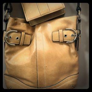 Coach handbag & wallet combo